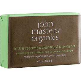 John Masters Organics Wielofunkcyjne mydło brzozowo-cedrowe do mycia ciała i golenia