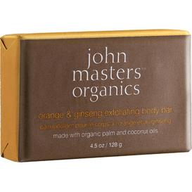 John Masters Organics Złuszczające mydło do ciała z pomarańczą i żeń-szeniem