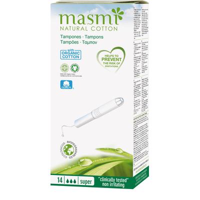 Tampony ze 100% certyfikowanej bawełny organicznej - Super Masmi