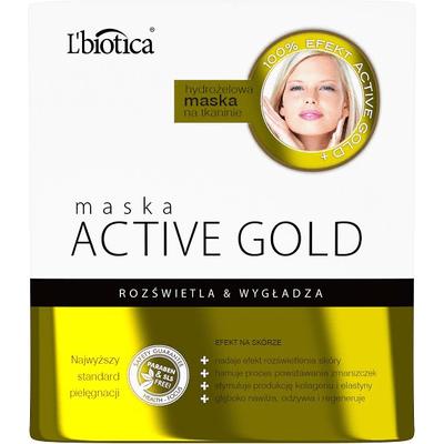 Maska hydrożelowa Active Gold - Rozświetla i wygładza L'biotica