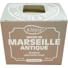 Alepia Mydło marsylskie Antique 100% oliwy z oliwek, 230 g