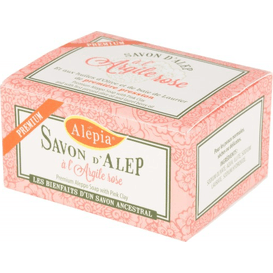 Alepia Mydło d'Alep Premium z różową glinką, 125g