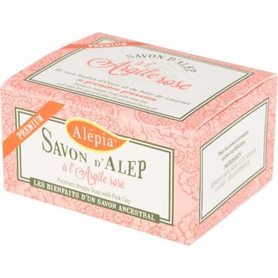 Mydło d'Alep Premium z różową glinką Alepia