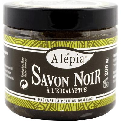 Mydło Savon Noir z eukaliptusem Alepia