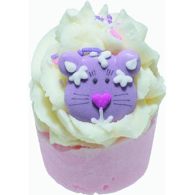 Kremowa babeczka do kąpieli - Mandarynkowy kot