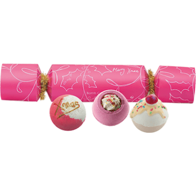 Zestaw upominkowy w kształcie cukierka - Owocowe Święta Bomb Cosmetics