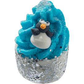 Bomb Cosmetics Kremowa babeczka do kąpieli - Miętowy pingwinek