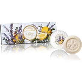 Saponificio Artigianale Fiorentino Naturalne mydełka tłoczone okrągłe - Lawenda z cedrem