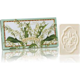 Saponificio Artigianale Fiorentino Naturalne mydełka tłoczone w ozdobnym opakowaniu - Konwalia