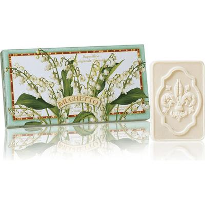 Naturalne mydełka tłoczone w ozdobnym opakowaniu - Konwalia Saponificio Artigianale Fiorentino