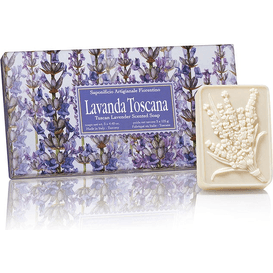 Saponificio Artigianale Fiorentino Naturalne mydełka tłoczone w ozdobnym opakowaniu - Lawenda toskańska