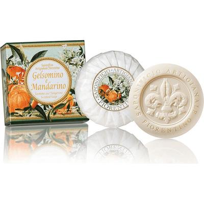 Naturalne mydełko rzeźbione okrągłe - Jaśmin z mandarynką Saponificio Artigianale Fiorentino