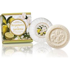 Saponificio Artigianale Fiorentino Naturalne mydełko rzeźbione okrągłe - Gardenia i bergamotka