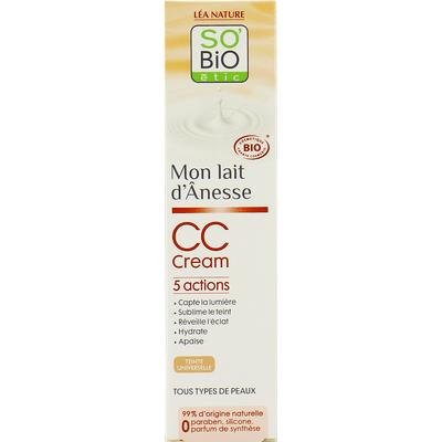 Krem CC z mlekiem oślim 5 w 1 - Colour Correcting Cream So Bio