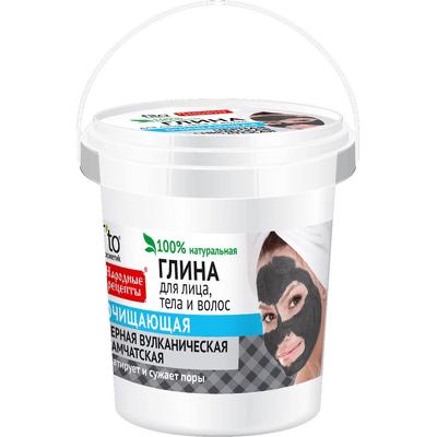 Czarna oczyszczająca glinka wulkaniczna kamczacka Fitocosmetic