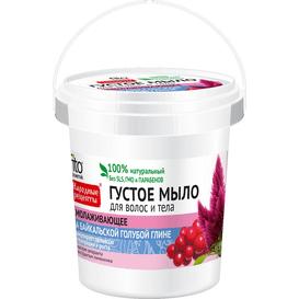 Fitocosmetic Gęste mydło dla włosów i ciała na bazie glinki niebieskiej bajkalskiej - Odmładzające, 155ml