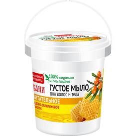Fitocosmetic Miodowo-rokitnikowe gęste mydło dla włosów i ciała - Złote odżywianie, 155ml