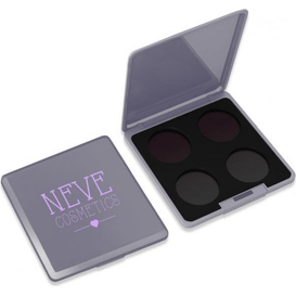Neve Cosmetics Paleta magnetyczna personalizowana na 4 kolory - Grey Glam