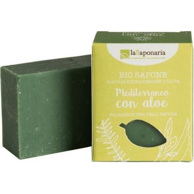 Śródziemnomorskie mydło roślinne z aloesem dla skóry zanieczyszczonej La Saponaria