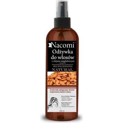 Odżywka do włosów z olejem ze słodkich migdałów - bez spłukiwania Nacomi