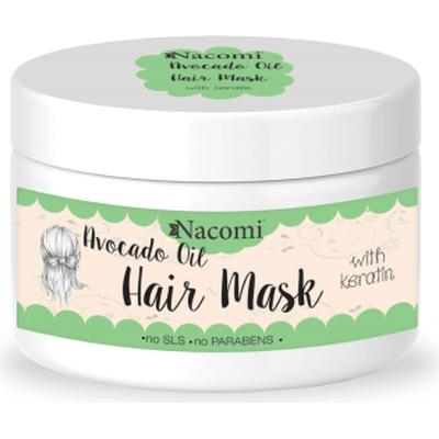 Maska do włosów z olejem awokado i proteinami keratyny Nacomi