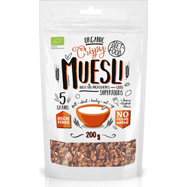 Diet Food Bio muesli crunch z superfoods - Muesli with Superfoods, 200 g