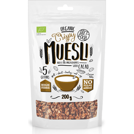 Diet Food Bio muesli crunch z kakao - Muesli with Cacao, 200 g