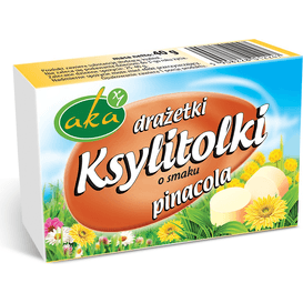 AKA Drażetki pudrowe o smaku pinacolada