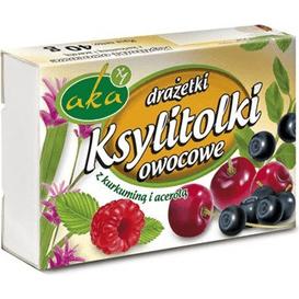 AKA Drażetki pudrowe o smaku owocowym