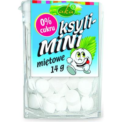 Ksyli-mini - drażetki pudrowe o smaku miętowym AKA