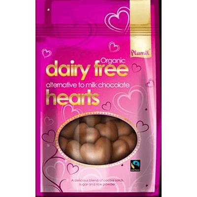 Serca czekoladowe bez cukru glutenu laktozy i orzechów Plamil