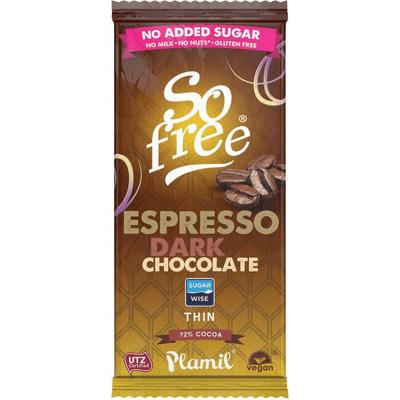 Czekolada o smaku espresso z ksylitolem So free - mini Plamil