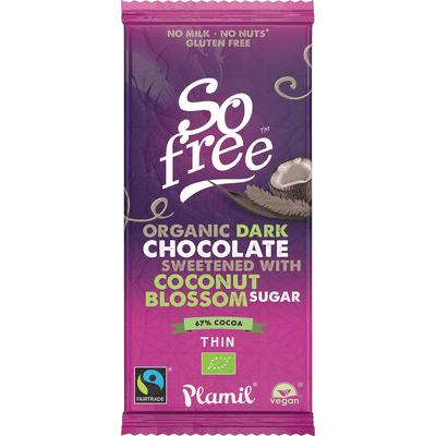 Czekolada So free BIO Gorzka z cukrem kokosowym Plamil