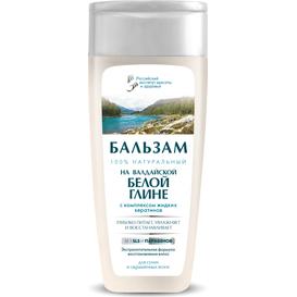 Fitocosmetic Balsam z białą glinką i kompleksem płynnej keratyny dla włosów suchych i farbowanych, 270 ml