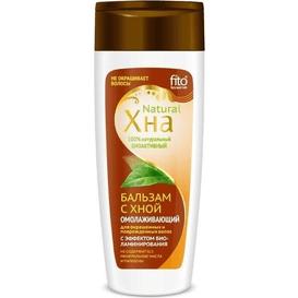 Fitocosmetic Odmładzający balsam z henną z efektem biolaminowania dla włosów farbowanych i zniszczonych, 270 ml