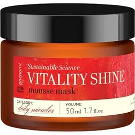 Phenome Vitality shine mousse mask - Rozjaśniająca maseczka z witaminą C, 50 ml