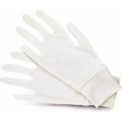 Bawełniane rękawiczki kosmetyczne ze ściągaczem - 1 para, uniwersalne Donegal