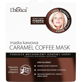 L'biotica Maska kawowa - pobudzenie mechanizmów odnowy skóry
