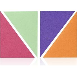 Donegal Gąbki do makijażu trójkąty kolorowe - 4 szt.