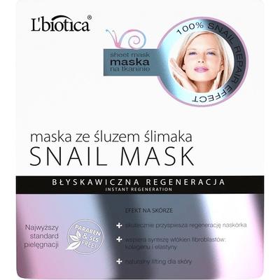 Maska ze śluzem ślimaka - błyskawiczna regeneracja L'biotica