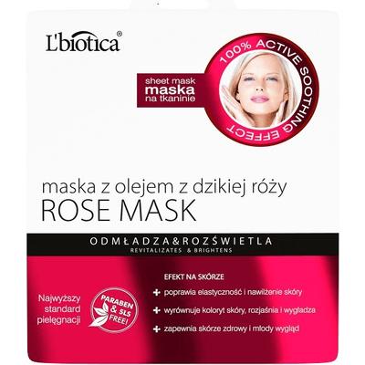 Maska z olejem z dzikiej róży - odmłodzenie i rozświetlenie L'biotica