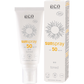 Eco Cosmetics Spray na słońce SPF 50 z Q10 - tonowany
