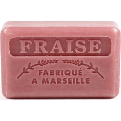 Mydło marsylskie z masłem shea - Truskawka Foufour