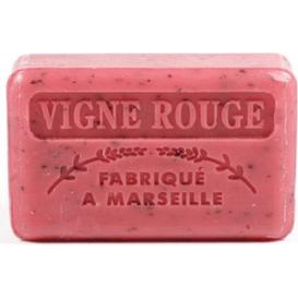 Foufour Mydło marsylskie z masłem shea - Czerwona winorośl, 125 g