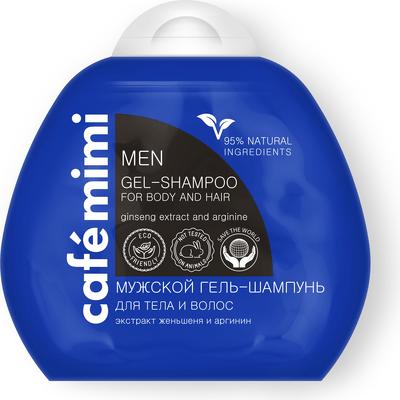 Nawilżający szampon i żel do ciała dla mężczyzn Cafe Mimi