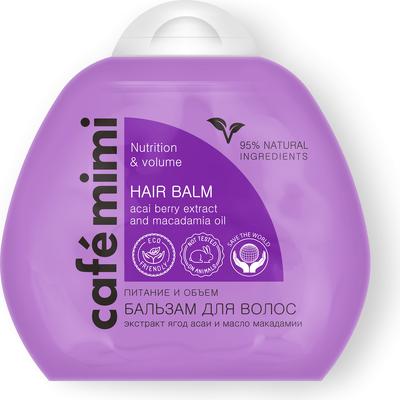 Odżywczy balsam do włosów przywracający objętość Cafe Mimi
