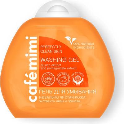 Oczyszczający żel do mycia twarzy o działaniu matującym Cafe Mimi