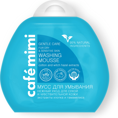 Pianka do mycia delikatnej i wrażliwej skóry twarzy Cafe Mimi
