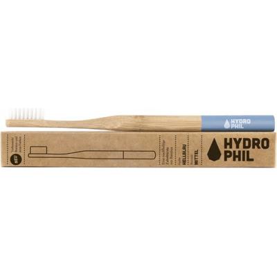 Naturalna bambusowa szczoteczka do zębów - włosie średnie - niebieska Hydrophil
