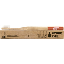 Naturalna bambusowa szczoteczka do zębów - włosie średnie - czerwona